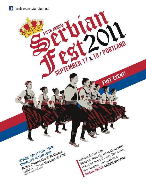 Serbian Food Festival Menu