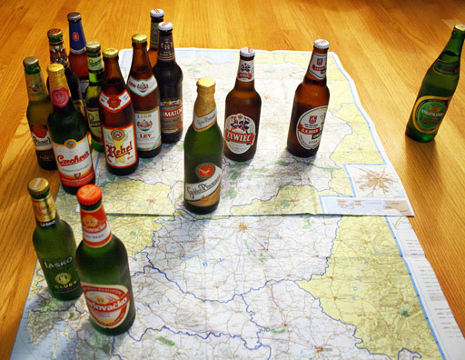 Beer Map of Central Europe