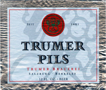 Trumer Pils label